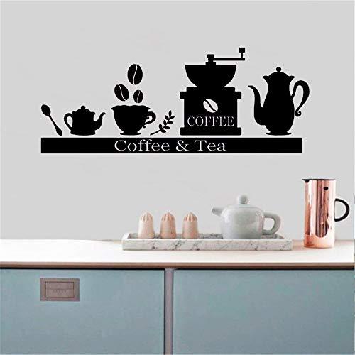 mlpnko Wasserdichtes Tapetenpapier Kaffeemaschine Tasse Tee, Vinyl Home Decoration DIY Wohnzimmer Schlafzimmer Büro Dekoration, Selbstklebende Tapete abnehmbare Aufkleber -57x25cm