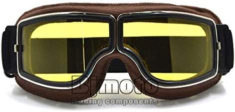 Universal Vintage Motorcycle Goggles Motocross Goggles Helmet Pilot Scooter Retro Moto Outdoor Dirt Bike Gafas de Sol Retro ///Montura Lente Plateada