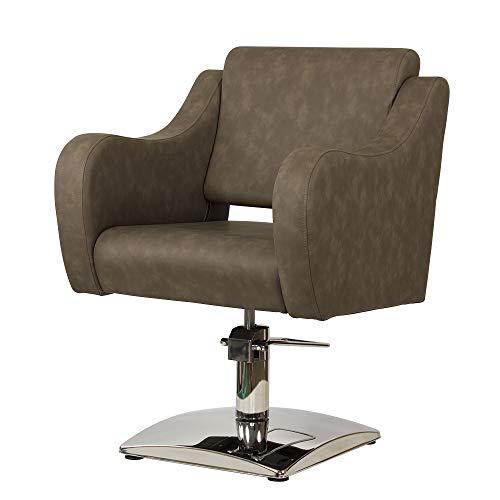Sillón de peluquería profesional FRIDA (Marrón grisáceo)