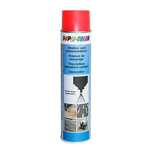 Dupli-Color 895166 Markierungsspray, 600 ml, permanent Straßenmarkierer Rot