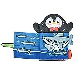 SM SunniMix Colorido Libro de Tela para bebés, Juego de rol, Libro de baño para bebés, Libros de Juguete para niños, Durable y Lavable - Penguin Style
