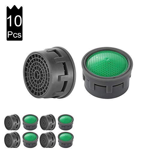JQK Faucet Areator, 4.75 GPM Insert Faucet Aerators Replacement Parts Bathroom 10 Pack, FAG-P10