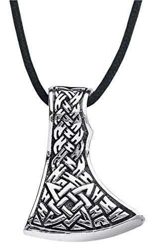 etNox magic and mystic Keltische Axt Halskette silberfarben