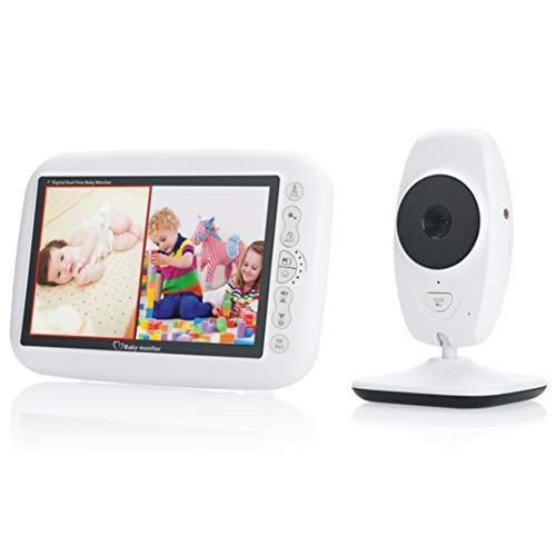 Draadloze video, audio, babymonitor, digitale lcd-camera, tweeweg-gesprek, nachtzicht, slaaplied, temperatuurbewaking, capaciteit accu en afstandsbediening.
