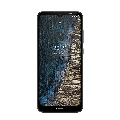 "Nokia C20 - Smartphone 4G Dual Sim, Display 6.5"" HD+, 32GB, 2GB RAM, Camera, Android 11 Go, Batteria 3000mAh, Dark Blue [Italia]"