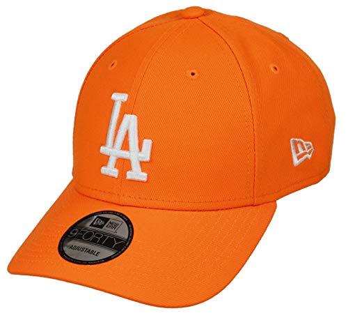 New Era Los Angeles Dodgers MLB Cap New Era 9forty Baseball Verstellbar Neon Orange - One-Size