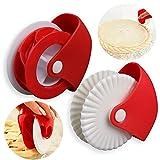 2 Pezzi Pastry Wheel Decorator Cutter, Rotella Taglia e Chiudi Pasta, Utilizzato per Realizzare Bellissime Crostate di Crostate o Ravioli di Pasta per Pizza