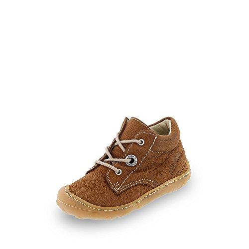 RICOSTA Pepino Unisex - Kinder Stiefel Cory, WMS: Mittel, Kinder-Schuhe Klett-Schuhe Spielen Freizeit leger Boots Leder Kids,Curry,19 EU / 3 UK