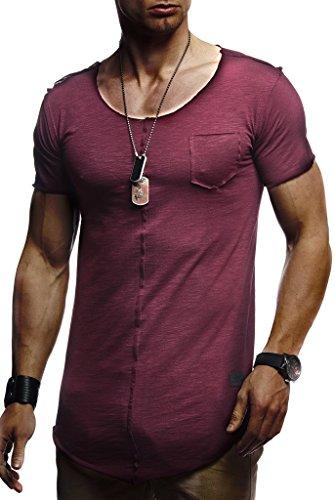 Leif Nelson heren zomer T-shirt ronde hals slim fit katoenaandeel Basic mannen T-shirt Crew Neck Hoodie-Sweatshirt korte mouwen LN6288