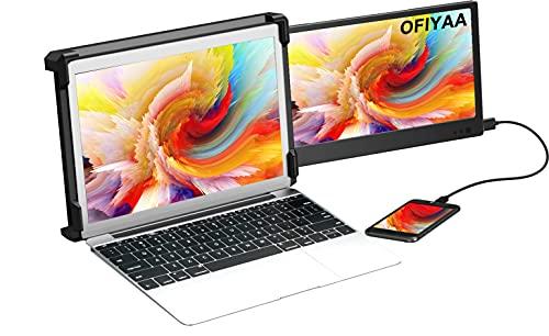 OFIYAA P1 11.6'' Moniteur Portable écran Ordinateur 1080P FHD IPS USB-A/Type-C/HDMI 2 Haut-parleurs Moniteur écran Monitor pour PS5 Compatible avec 13 '' - 16 '' Mac PC/Notebook