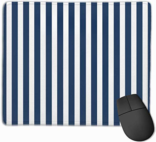 Cabana Mauspad/Mauspad, rutschfeste Gummi-Unterseite, für Computertastatur und Schreibtisch, 24,8 x 29,5 cm, Marineblau/Weiß