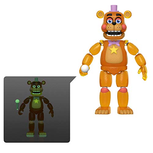 Funko 45637 Action Figure: Friday Night at Freddy's Pizza SIM- Rockstar Freddy - Glow in The Dark Translucent Collectible Toy, Multicolour