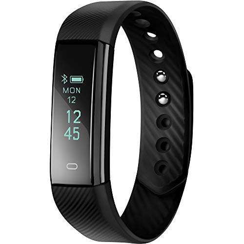 acme ACT101 Fitness Aktivität Tracker | Fitness Armband | Schrittzähler, Schlafüberwachung, Benachrichtigung bei Anrufen und Nachrichten, Kompatibel zu Android und iOS | Schwarz, Einheitsgröße