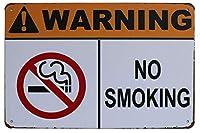 警告禁煙金属サインビンテージプラークウォール装飾