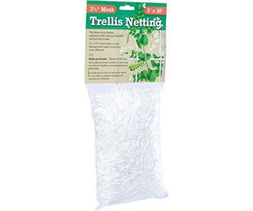 Hydrofarm HGN30S Flexible String Trellis Netting 5#039 X 30#039 35quot Mesh White
