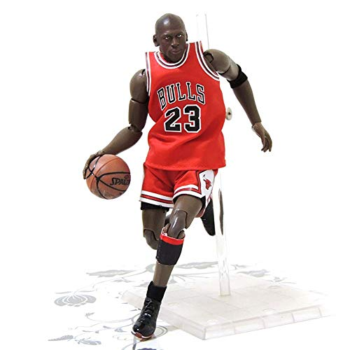NBA Estrella De Baloncesto No. 23 Chicagobulls Michael Jordan Action Figure, Estatua De Juguete Junta Movible PVC De Protección del Medio Ambiente Juguetes Aptos para Niños -21.5Cm