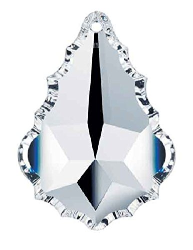 Set of 5-38 mm - Crystal Clear Swarovski Crystal Chandelier Parts, 8901 French Cut with Pin Hole