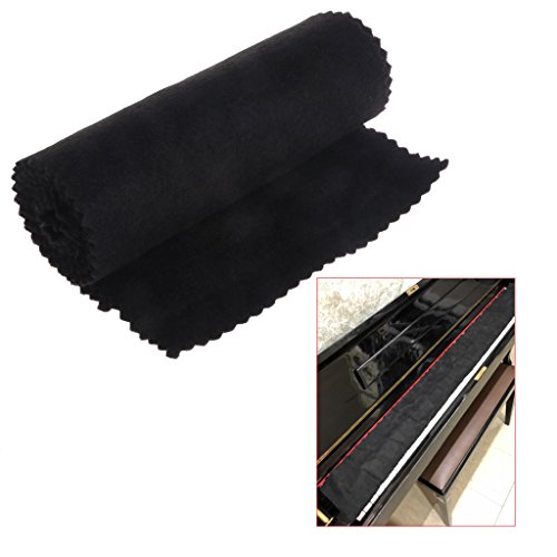 Buy Discount Fucung 88 Keys Black Soft Piano Key Cover Keyboard Dust Proof Moisture Flannel Cloth