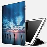 Qinniii Étui Compatible avec iPad 9.7 2018/2017,Ocean Calme Seascape at Sunset in Vietnam Motion Effectected Clouds Twilight Scenery,Etui à Rabat avec Support Ultra-Mince avec iPad 5ème / iPad 6ème