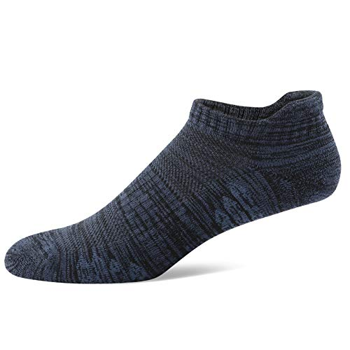u&i Men's Performance Cushion Cotton Low Cut Ankle Athletic Socks (6-Pack/12-Pack) - - Large
