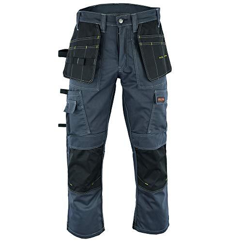 Wright Wears Herren Workwear Grau & Khaki Hochleistungs-Multi-Pockets & Kniepolo-Taschen wie Dewalt .DE: 52/M (36W/31L Größe Fertigung)