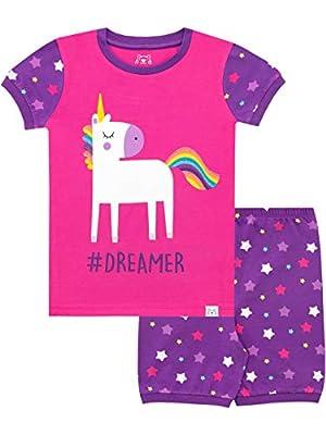 Harry Bear Pijama Corta para niñas Unicornio de Brillantina Rosa 2-3 Años