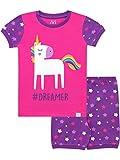 Harry Bear Pijama Corta para niñas Unicornio de Brillantina Rosa 5-6 Años
