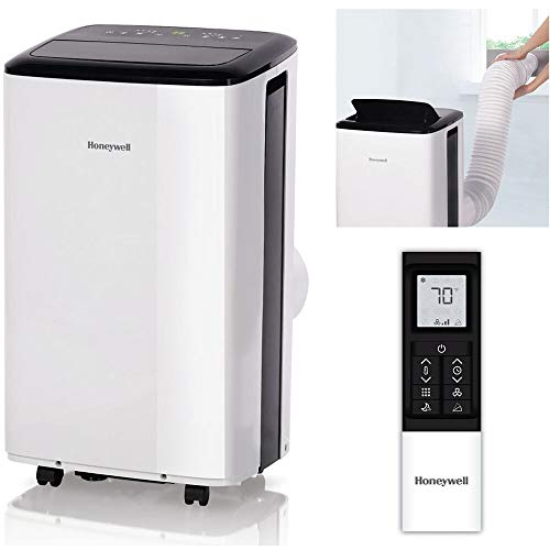 Honeywell HF0CESVWK6 10,000 BTU Smart Wi-Fi Portable Air Conditioner, Rooms up to 450 sq. ft, Black/White