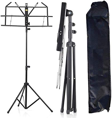 DEVICE OF URBAN INFOTECH Adjustable Portable Folding Light Weight Sheet Notation Stand and Clip Holder for Books, Notes, Violin, Lyrics with Carry Bag