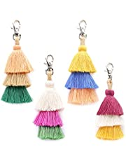 NOL DIY Handmade Creative Pendant European and American Personality Bohemian Accessories Female Fashion Tassel Bag Pendant Keychain
