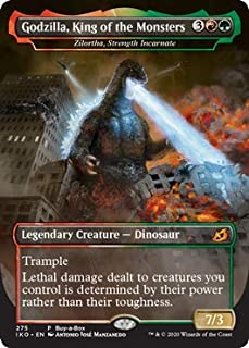 Magic: The Gathering - Zilortha, Strength Incarnate - Godzilla, King of The Monsters - Foil - Ikoria: Lair of Behemoths