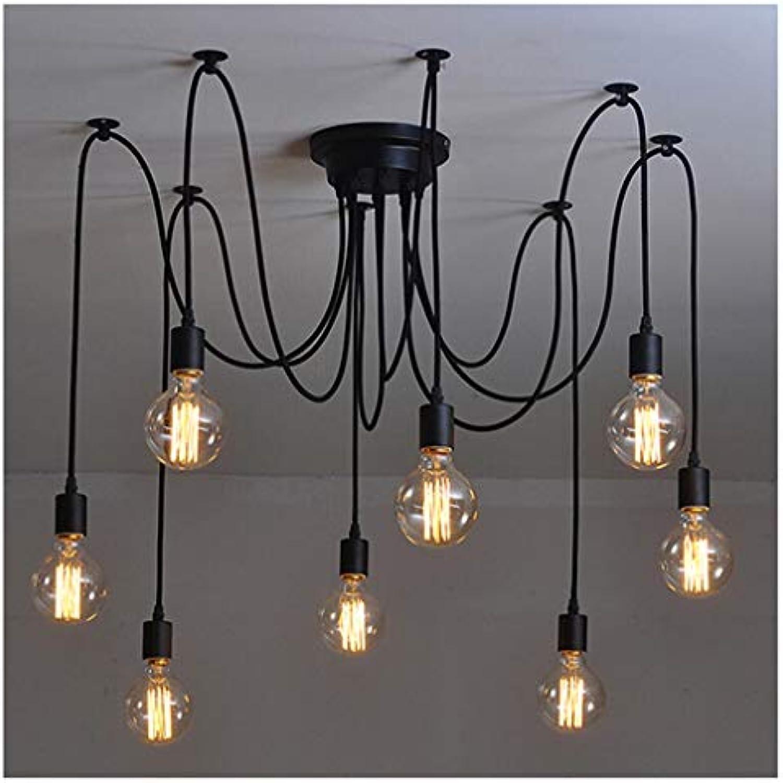 DUOMING Retro Edison Lampe Licht Kronleuchter Vintage Loft Einstellbare DIY E27 Spinne Deckenleuchte Cafe Wohnzimmer Bar Leuchte Licht Persnlichkeit