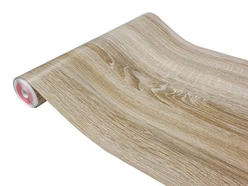 DecoMeister Klebefolien in Holz-Optik Holzfolien Deko-Folien Holzdekor Selbstklebefolie Möbelfolie Selbstklebend Holz-Maserung 67,5x100 cm Sonoma Eiche Hell
