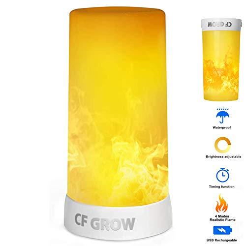 lámpara con luz efecto fuego fabricante CFGROW