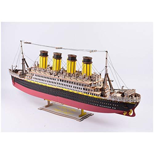 DIY educatief speelgoed huis 3d puzzel zeilboot kinderen gift spel monteren van houten gebouw ferry model houten speelgoed boot