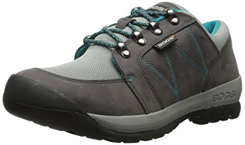 Bogs Women's Bend Low Hiking Shoe, Pewter, 5 M US