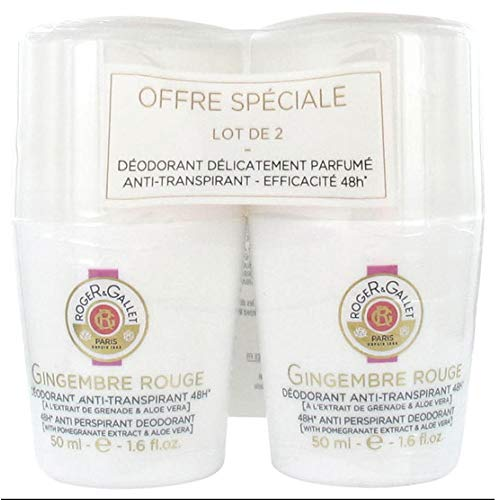 Roger & Gallet 48H Desodorante Antitranspirante Gingembre Rouge 2 x 50ml