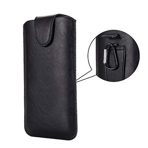Integrity.1 Bolsa para teléfono móvil, Funda para Cinturón para Teléfono Móvil, Bolsa para Cinturón para Teléfono Móvil, Bolsa para Teléfono Móvil para Exteriores con Mosquetón(Negro, 5.5 Pulgadas)