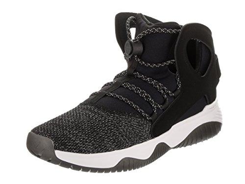 Nike Men's Air Flight Huarache Ultra Black/Black/White/Volt Basketball Shoe 10 Men US