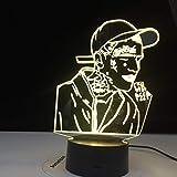Lil Peep Américain Populaire Rappeur Célébrité Fans Night Light 3D LED Lampe de Table enfants cadeau d'anniversaire chambre de chevet décoration