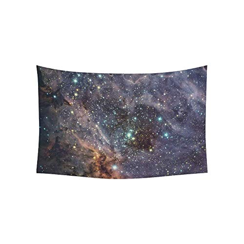 WSMWHX Tapestry Omega Nebula Swan Nebula Checkmark Nebula Tapestries Wall Hanging Flower Psychedelic Tapestry Wall Hanging Indian Dorm Decor For Living Room Bedroom-S/73Cmx95Cm