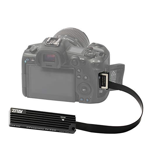 Adattatore ZITAY CFexpress B a SSD, CFexpress Tipo B a NVME M.2 SSD XQD Adattatore sostitutivo per Nikon Z6 Z7 D5 D6 D850 D500 PANASONIC DC-S1 / S1R Canon EOS 1DX MarkIII R5 C500 MarkII
