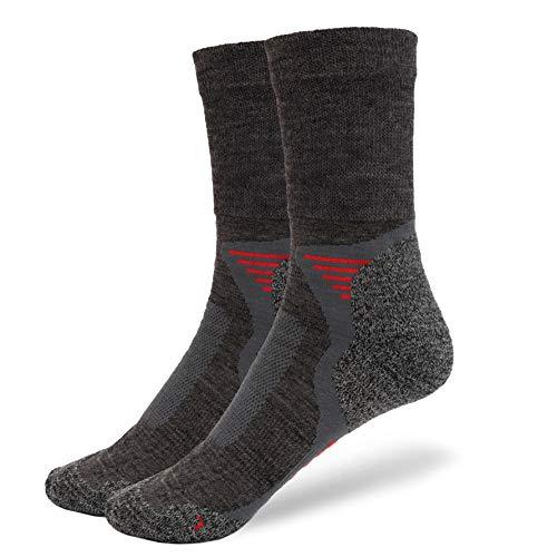 NewwerX 3 Paar Trekkingsocken, Wandersocken mit Merinowolle, Outdoor Funktions und Trekking Socken leicht und atmungsaktiv, hält die Füße warm und trocken (43-46)