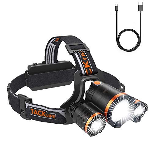 TACKLIFE Lampes frontales, Lampe Frontale LED,...