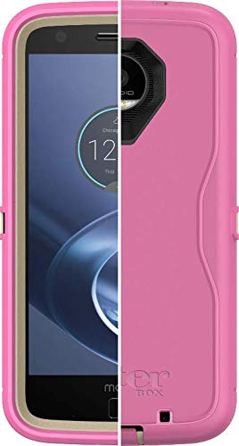 OtterBox Defender Series Case for Motorola Moto Z Force - Non-Retail Packaging - Sand/Hibiscus Pink