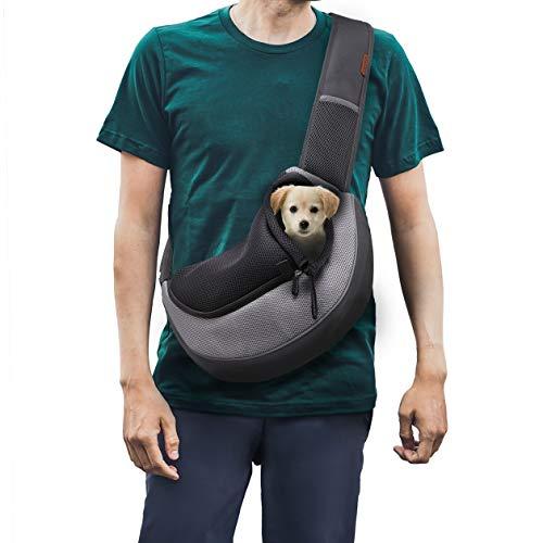 FDJASGY - Mochila para perros pequeños y gatos, malla transpirable para viajes, con bolsa y correa ajustable