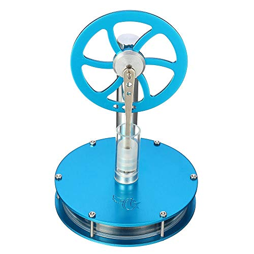 Feixunfan Stirlingmotor Physik Experiment Low Temperature Difference Heißluft-Stirling-Motor Bunte STEM Modell Physik Experimentierspielzeug (Color : Blue, Size : One Size)