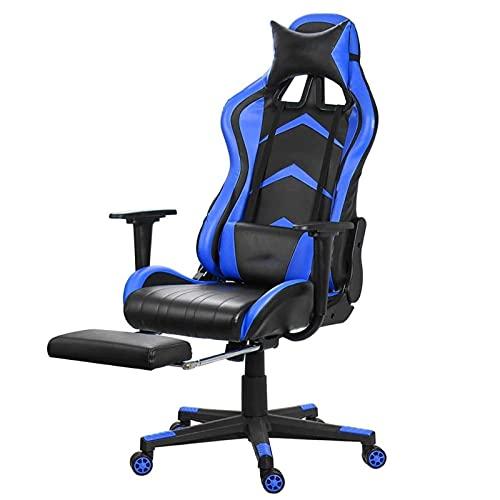 SuRose Sillón reclinable de oficina ajustable con elevación giratoria de piel sintética para oficina, computadora, juegos, con reposapiés para muebles para el hogar (color 0865)