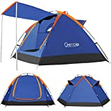 Getop 2-3 Person Family Camping Dome Tent Backpacking Waterproof Durable Outdoor Skylight for Beach Hunting Hiking Travel