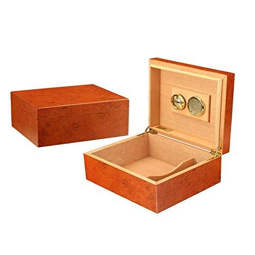 YINGGEXU Humidor de cigarros Caja de cigarros, cigarros Pino, Pequeño humidor de Puros, la Caja de cigarros portátil, cálido y rollizo (Color: Amarillo, tamaño: 29 * 22.5 * 11cm)